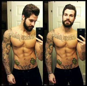 Aside from the dubious offense of taking a selfie, the tats are so incredibly lame.