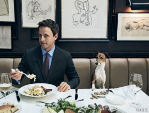 Seth Meyers is funny on his own time.