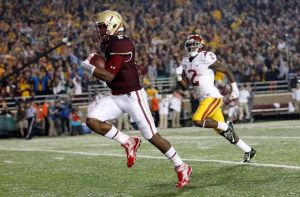 Tyler Murphy continues to run over opponents for Boston College.