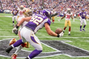 Kyle Rudolph's athleticism will be on display more often in a new offense in Minnesota.