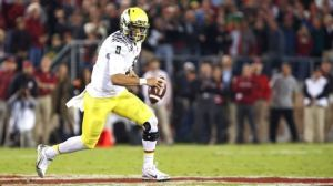 Expect to see Marcus Mariota on the run early and often against the Soartans.