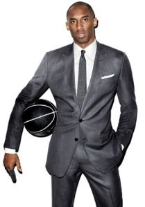 This is from a GQ cover shoot, but my guess is his suits alone are worth more than my car. Stop bitching, Kobe.
