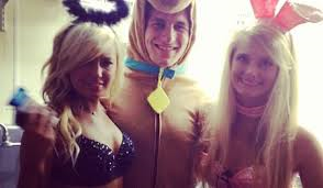 Manziel doesn't hang out with dogs (in reference to the costume, duh!)