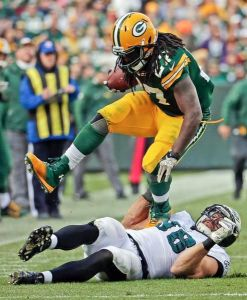 With Rodgers hurt, Eddie Lacy needs to carry his team to victory.