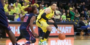 Oregon #24 Dillon Brooks  Old Miss #42 Stefan Moody