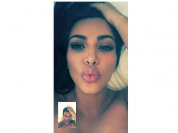 kim kardashian pout