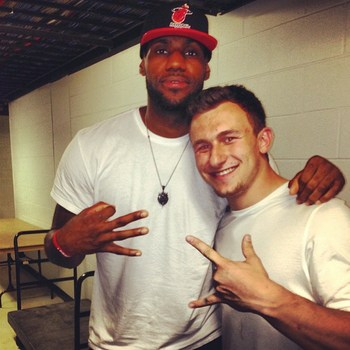 Johnny Manziel LeBron James